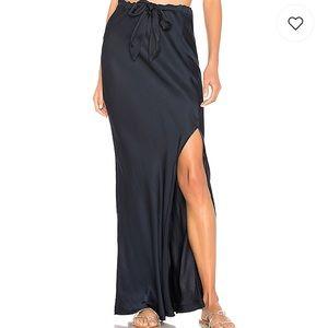Revolve Cali Dreaming Boheme Skirt Midnight Blue